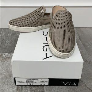NWT VIA SPIGA slip in sneakers